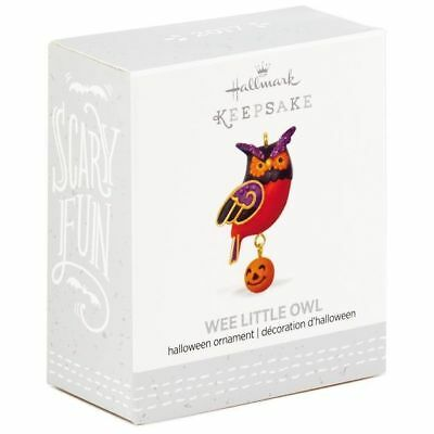 2017 Hallmark WEE LITTLE OWL Halloween MINI miniature ORNAMENT