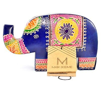 MATR Boomie Handmade Leather Elephant Piggy Coin Still Bank Made in India