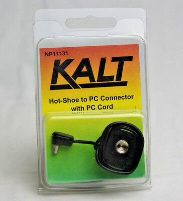 Kalt Hot-shoe to PC Connector with PC Cord Brand New NP11131