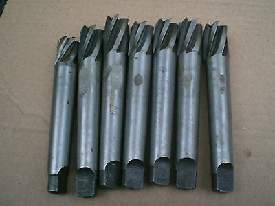 lot of 7 Brown and Sharpe No 7 Jig Bore end mills