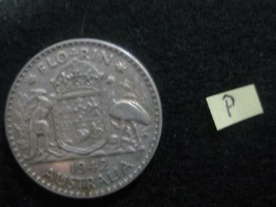 1942..  florin  TWO SHILLING COIN