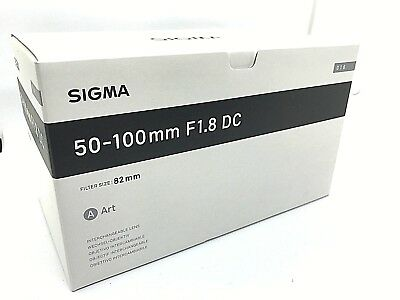 New SIGMA 50-100mm f/1.8 DC HSM Art Lens for CANON EF