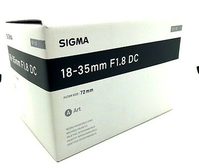 New SIGMA 18-35mm f/1.8 DC HSM Art Lens for CANON EF Mount