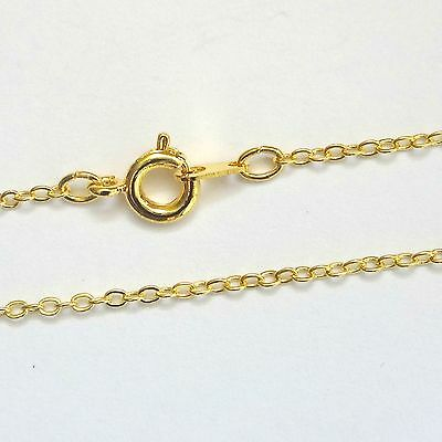 12 Gold Plated Necklace Trace Chains 16'' Findings UK Seller