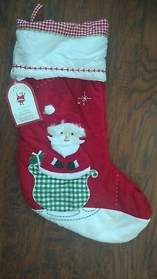 Pottery Barn Kids Santa Quilted Stocking