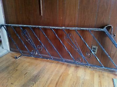 Vtg. Wrought Iron Hand Railing Stairs Salvaged Great Also Indoor Stairs