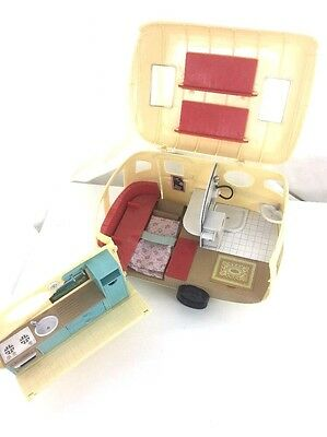 Sylvanian Families The Caravan Holidays Camping Collectable Toy Play Set Doll