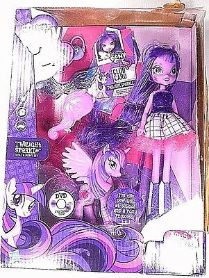 My Little Pony Twilight Sparkle Equestria Doll & Pony Set New in Package 2013