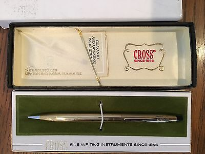 Vintage Cross Century 12KT Gold Filled Pencil    No 6603 **MINT**  With Case