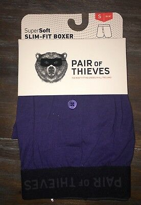 Pair of Thieves Men's Super Soft Slim-Fit Boxer Blue Multiple Sizes NEW