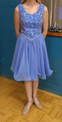 Show Choir Dance dresses, periwinkle with beaded design