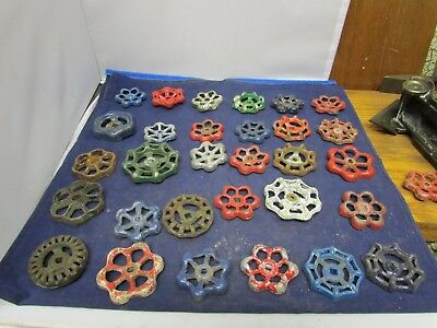 Vintage Water Valve Handles 30 For Crafts Differnt Sizes Colors And Condition