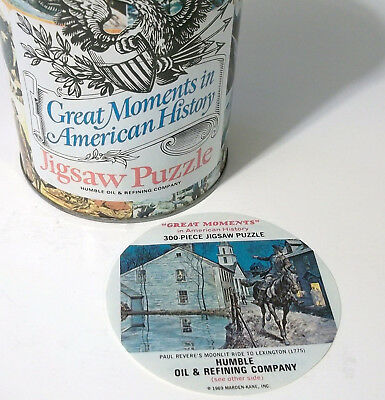 Paul Revere Humble Oil Can Jigsaw Puzzle  - Sealed 300 Pieces -  Great Moments