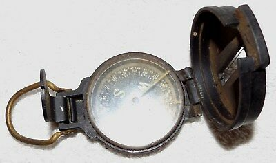 VINTAGE WWII US ARMY CORPS of ENGINEERS--40's LENSATIC COMPASS--WORKS GREAT