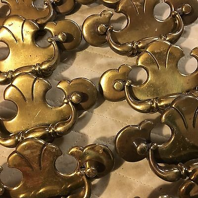 Vtg Salvage Lot Metal Distressed Ornate Butterfly Furniture Pull Handle Hardware