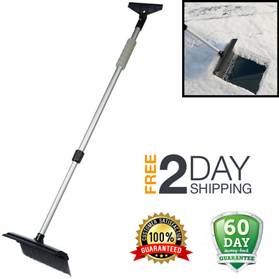 Ice Scraper for Car with Brush + FOAM Windshield Snow Removal Frost  Telescoping