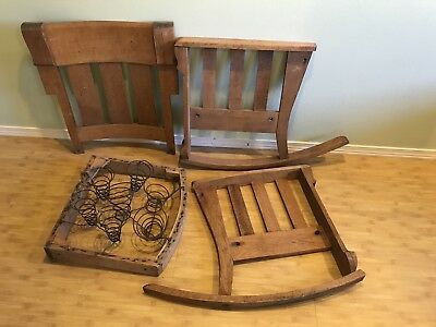 Vintage Solid Wood Mission Style Rocking Chair -not assembled