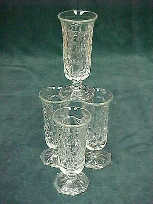 4 Footed Parfaits Mckee Early American Rock Crystal Excellent Condition