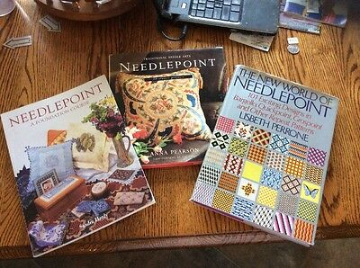 Needlepoint A Foundation Course 101 Designs 20 Classic Projects LOT OF 3 Books