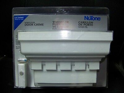 NuTone LA-239WH Traditional Style Wireless Three Tone Door Chime, White NEW
