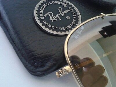 Vintage Ray Ban THE GENERAL B&L 50th Anniversary RB50 Lenses Gold58mm USA