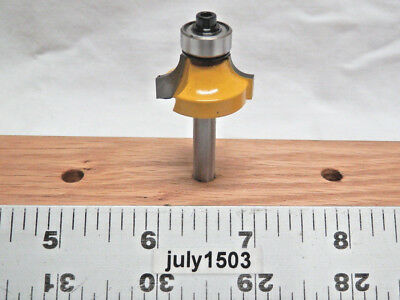 "(1) NEW  Yonico 1/4"" R Roundover Carbide Tipped Router Bit 1/4 Shank Bearing y2"