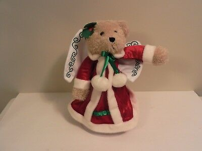 Avon Christmas Ornament Angel Bear Tree Topper With Box