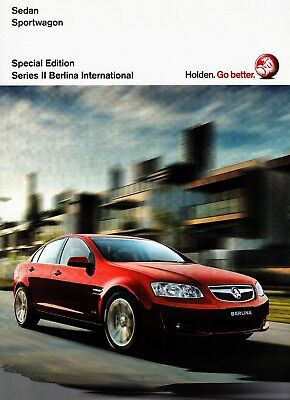 Holden VE SERIES 2 COMMODORE INTERNATIONAL SPECIAL EDITION BROCHURE 09-2006
