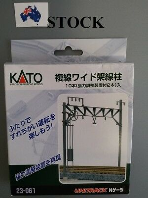 KATO 23-061 N Scale Model Train Double Track Catenary Poles, 10 pcs.