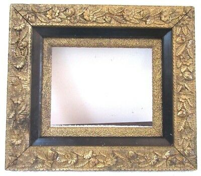 Antique Victorian Fits 8x10 AESTHETIC MOVEMENT Gold Gilt Picture Frame  1880
