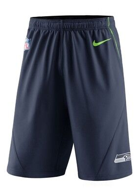 Seattle Seahawks NIKE Practice Fly Shorts Lime Green M L XL XXL NFL Football