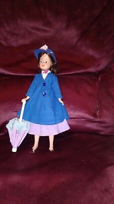VINTAGE 1964Horseman Mary Poppins Doll in Original Outfit with Two Extra Dresses