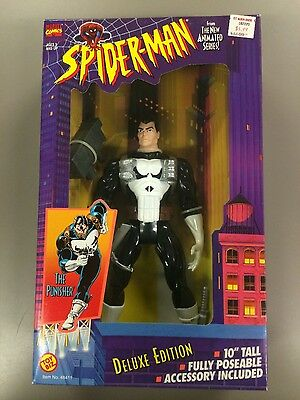 """Marvel COMICS PUNISHER 10"""" Tall Figure FROM SPIDER-MAN THE ANIMATED SERIES NIP"""