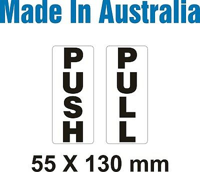 PUSH and PULL - Vinyl Stickers - 55 x 130 mm