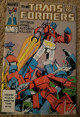 The Transformers #12 (Jan 1986, Marvel) VF
