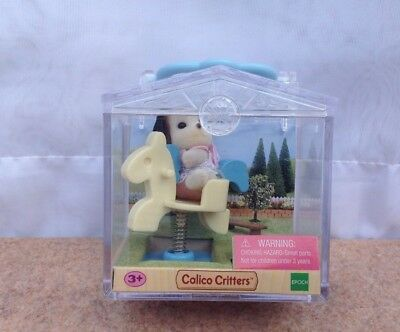 Calico Critters -Beagel on Spring Horse New In Carry Case