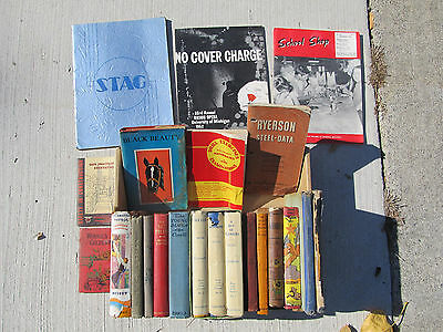 Antique & Vintage Estate Lot 22 Books & soft cover Collectible Late 1800s-1950s