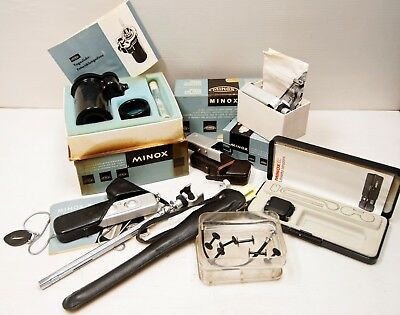 "ENSEMBLE d'Appareils photo. Argentique "" MINOX ""- MINIATURES - collector"