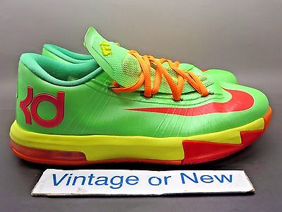 5cd850f77ca NIKE KD VI 6 Gs Candy Edition Lime Red Orange 599477-300 Size 7Y ...