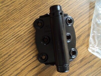 NIB Bommer 2100S-601 black Screen Door Hinge F-Surf US1B Spring loaded 3 3/4""