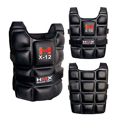 12Kg Weighted Weight Vest Adjustable Mma Gym Training Exercise Sport Fitness