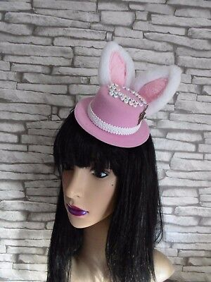 Alice In Wonderland Themed Mini Top Hat OH MY HAIRS AND WHISKERS IM LATE (BoxG10