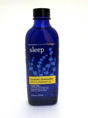Bath and Body Works💜Aromatherapy💙Sleep💛Lavender Chamomile💜4oz Massage Oil💙