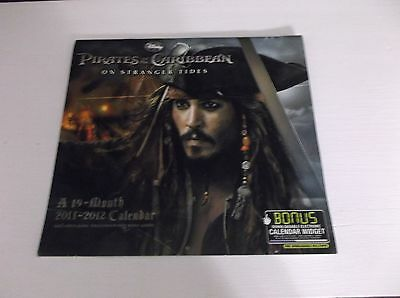 Pirates of the Caribbean On Stranger Tides 19-Month 2011-2012 Wall Calendar Used