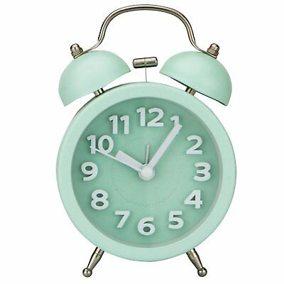 Bedside Alarm Clock Non-ticking Vintage Analog Classic Table Home Bedroom Decor