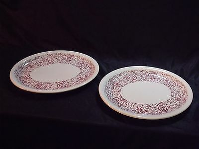 "Pair of Vintage Caribe China Puerto Rico USA 11 1/2"" Oval Ironstone Platters"