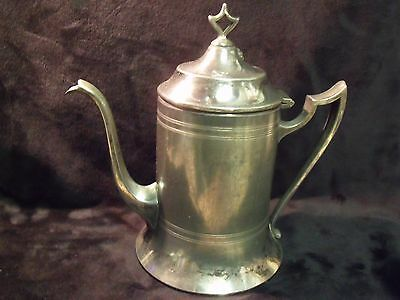 Antique Sheffield Plate 816  Made in USA 3 1/2 Cup Lighthouse Style Teapot