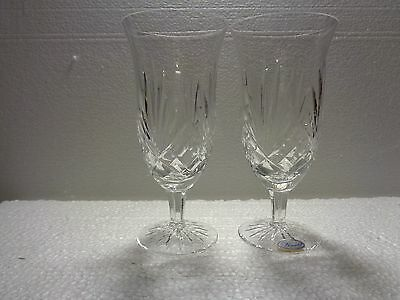 Rogaska Full Lead Cut Crystal Richmond Iced Tea Water Glasses Set Of 2 Signed