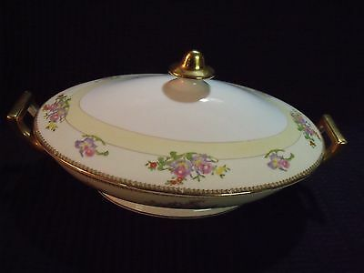 "Gorgeous Meito China Japan Hand Painted 'the Berkshire' 12"" Tureen"