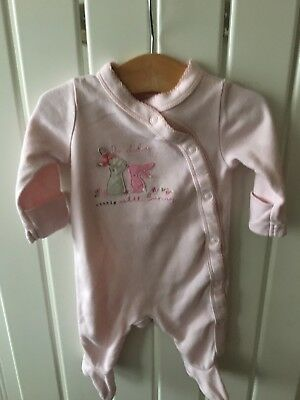 Baby Girl's Clothes Newborn - Mothercare Bunny Theme Sleepsuit/Babygro